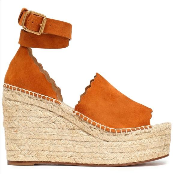 7333f0c67b2 Lauren suede espadrille wedge sandals. Great